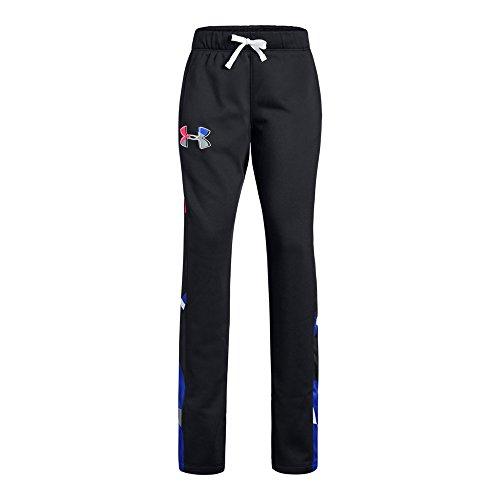 Under Armour Girls Armour Fleece Pants, Black (001)/Penta Pink, Youth Medium (Under Armour Toddler Girls Pants)