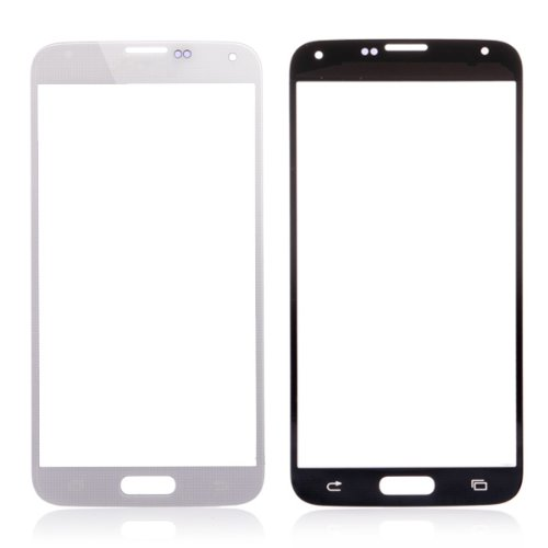100% Genuine Outer Front Glass Screen Lens Replacement for Samsung Galaxy S5 SV All Models (White)