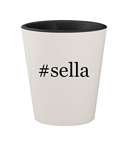 Price comparison product image #sella - Ceramic Hashtag White Outer & Black Inner 1.5oz Shot Glass