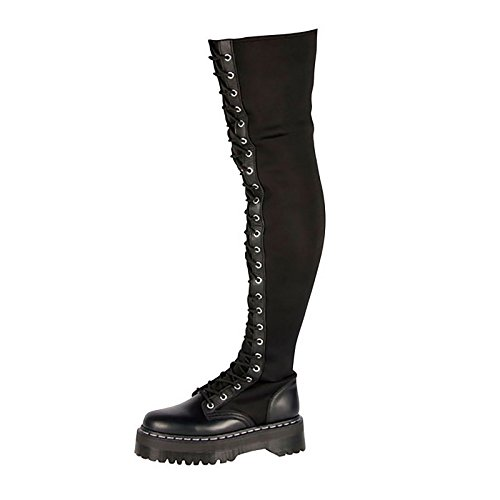 DR. Martens AGGY TALL BLACK SMOOTH+NAPPA UK 4