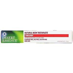 Desert Essence, Natural Neem Toothpaste, Cinnamint, 6.25 oz (176 g)