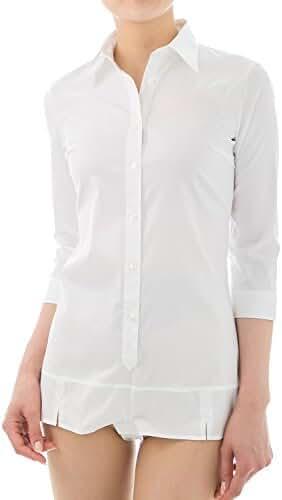 LEONIS Women's Premium Stretch Easy Care Bodysuit Shirt