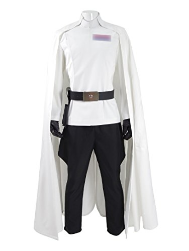 Hot Sci-Fi Movie Director Costume White Uniform Full Set with Cape Men Halloween Costume (US Men-XXXL, White) - Movie Directors Costume