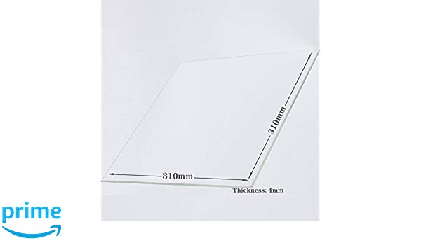 vidrio perfectamente plano con bordes pulidos Placa de cristal de borosilicato para impresoras 3D 310 mm x 320 mm x 4 mm