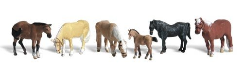 N Farm Horses Woodland Scenics SG/_B000BL1SA4/_US WOOA2141