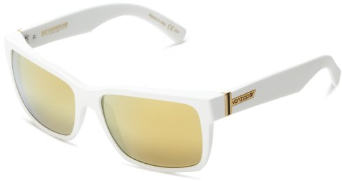 VonZipper Elmore Square Sunglasses,B.S. & White Satin,One - Zipper Von Sunglasses White