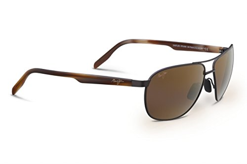 Maui Jim Castles Polarized Sunglasses Matte Chocolate / HCL Bronze One - Jim Maui Pilot