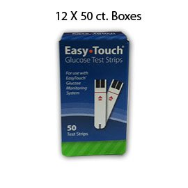 Case of 12 boxes of Easy Touch Glucose Test Strip - 50ct