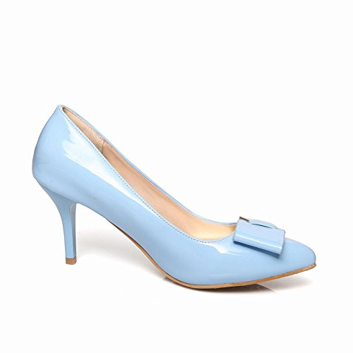 c8183d6101238d 85%OFF Latasa Womens Solid Color Bow Pointed-Toe Stiletto High Heel Dress  Pumps