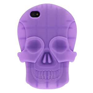 ZCL 3D Solid Color Skull Silicone Soft Protective Case for iPhone 4/4S (Optional Colors) , Red