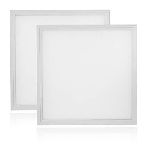 Ceiling Grid Light - Cortelco LED Panel Light, Troffer Drop Ceiling Flat Panel Light 2x2FT, Dimmable 0-10V Edge-Lit Light Fixture, 36W, 4680Lumens, 5000K, DLC&UL Listed, 2 Pack