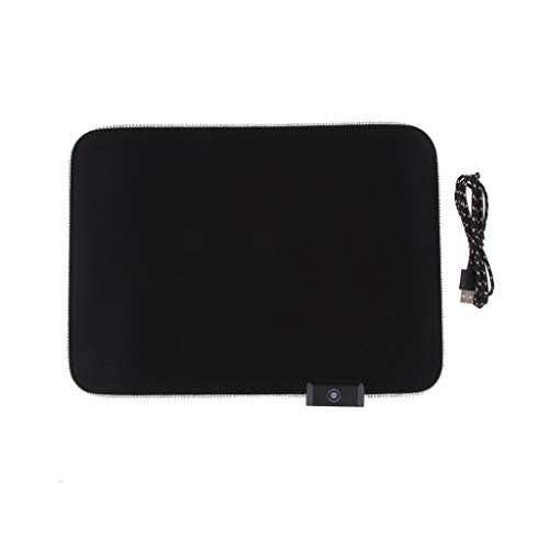 gazechimp RGB Gaming Large Mouse pad,Professional LED Extended Black Mouse Pad,Extra Long Computer Keyboard Mouse Pads 350x250x4mm