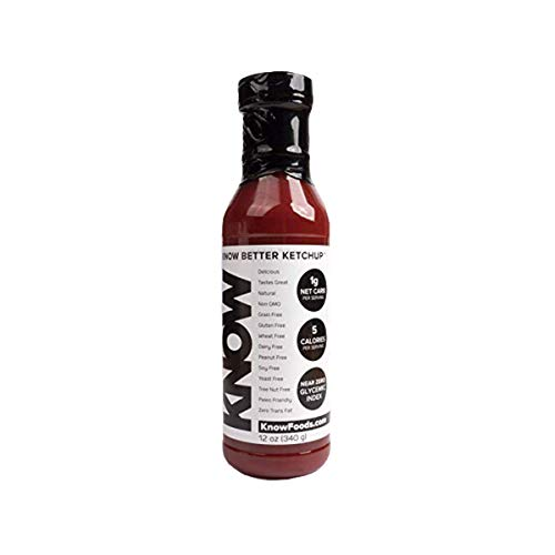 KNOW Foods- KNOW Better Ketchup, Keto, Paleo, Low Calorie, 12oz Bottle