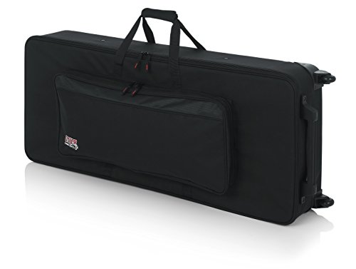 (Gator Lightweight Keyboard Case with Pull Handle and Wheels; Fits Standard 61 Note Keyboards and Electric Pianos (GK-61))