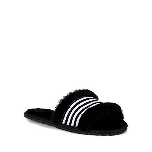 EMU Australia Women's W11634 Wrenlette Slide Slipper, Black - 10 (Dog Australia Slippers)