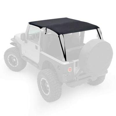 Smittybilt 93635 Extended Top Black Diamond for 1997 to 2006 TJ Wrangler and - Top Jeep Bimini