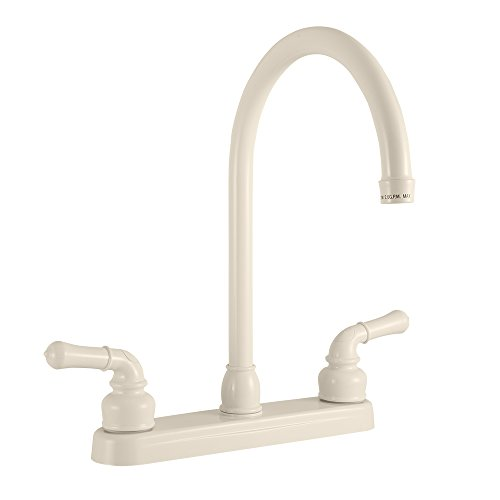 Dura Faucet RV Kitchen Faucet with J-Spout Replacement for Motorhomes, 5th Wheel, Trailer, and Camper (Bisque ()