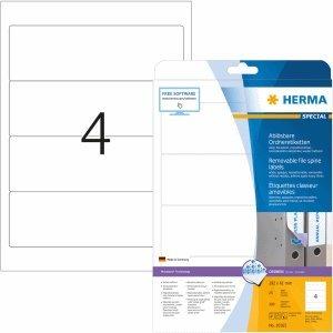 HERMA carpeta etiquetas Movables/despegable 192 x 61 mm ...
