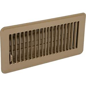 6 x 10 floor register with louvered design fixed for 10 x 10 floor register