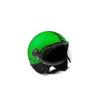 Oferta NUEVO Casco Momo Design Fighter verde neón texto negro Talla L