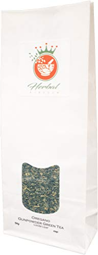 Organic Oregano and Gunpowder Green Tea Loose Leaf Herbal Tea (50g pack)