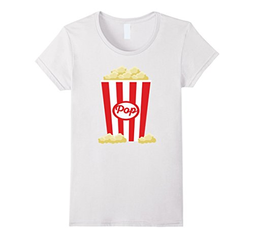 Costume Popcorn Ideas (Women's Popcorn - Funny Last Minute Halloween Costume T-Shirt Medium)
