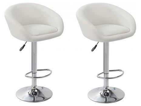 Comptoirxl sgabello di bar design lounge chester set di 2 bianco
