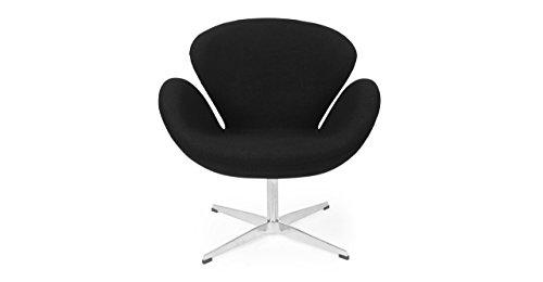 Kardiel Trumpeter Chair, Black Boucle Cashmere Wool