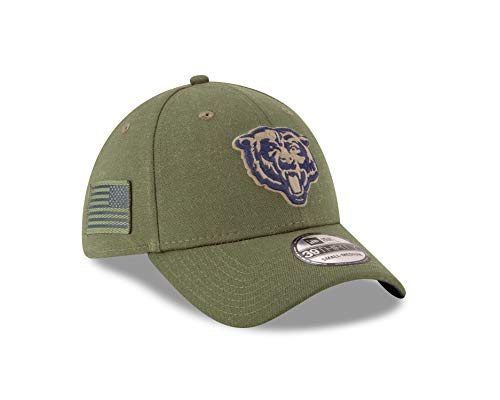 Chicago Bears Salute to Service. New Era Mens NFL 2018 Salute to Service  39Thirty Flex Fit Hat ... 29690abd8548