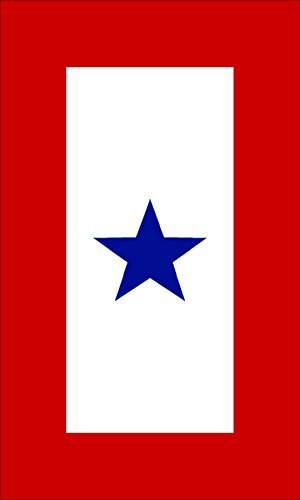 Service Decal Blue Star (1 Blue Star Military Service Flag Sticker (army decal))