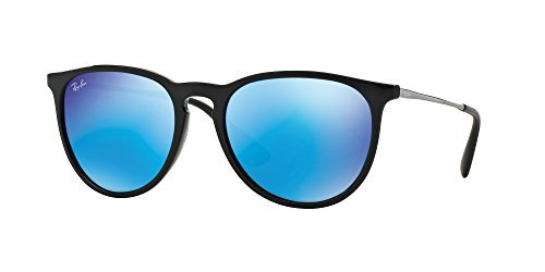 Ray Ban RB4171 601/55 54M Black/Light Green Mirror Blue+FREE Complimentary Eyewear Care - Ban Erika Polarized Tortoise Ray