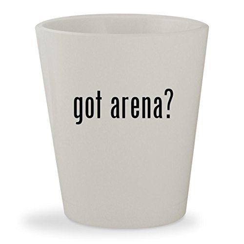 got arena? - White Ceramic 1.5oz Shot Glass