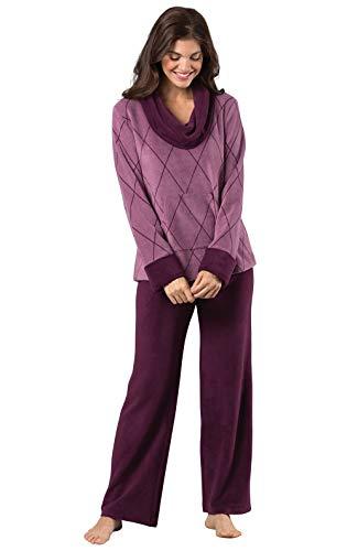 PajamaGram Super Soft Pajamas for Women - Womens Pajama Sets, Plum, S, 4-6