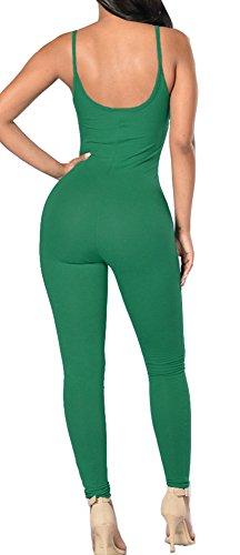 Skinny Leg Stretch Tank Playsuits Stretch Jumpsuit Bodysuit for Women Clubwear M