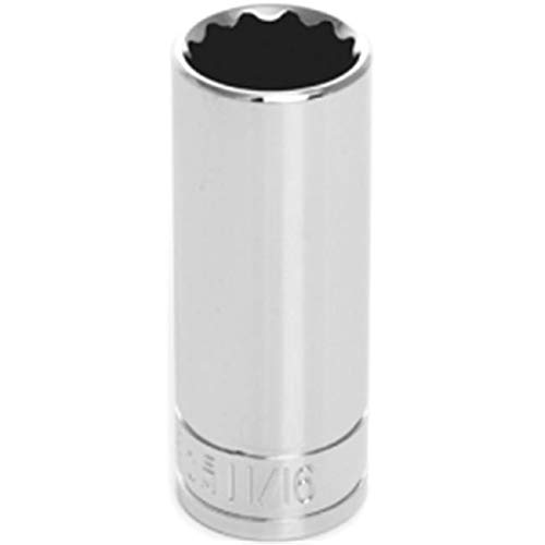 DenDesigns 12 Point Deep Chrome Socket, 0.37 in. from DenDesigns 12