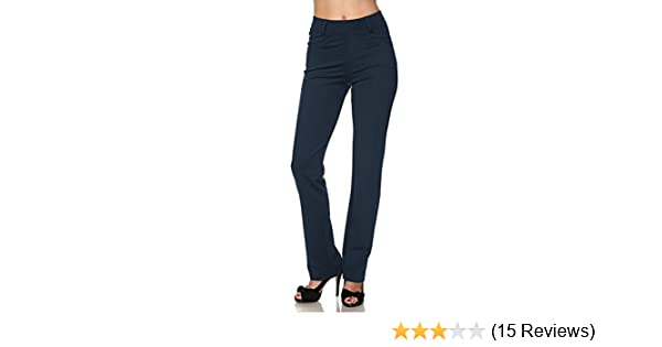 67e940e8dc5fa Vina Vino Women's Pull-On Stretchy Solid Dressy Pants at Amazon Women's  Clothing store: