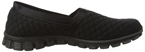 Skechers Ez Flex Bankroll Dames Slip Op Sneakers Zwart