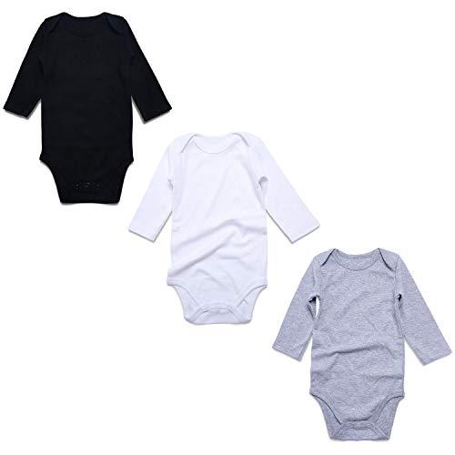 c1962dabe17 OPAWO 3-Pack Unisex Baby Bodysuits for Newborn Boys Girls 0-24M (18