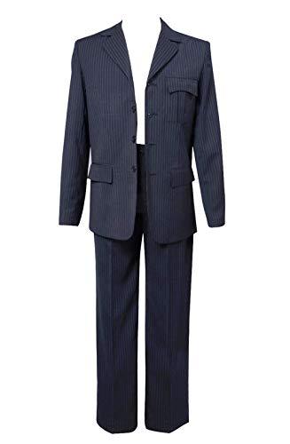 Wolfbar Dr Blue Pinstripe Blazer Pants Set Halloween Cosplay Costume Male M]()