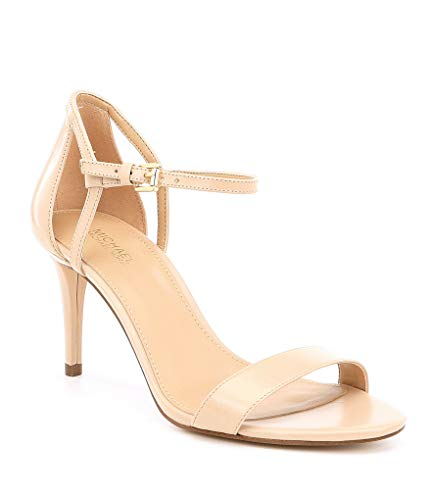 Open Sandals Toe Michael Kors (Michael Michael Kors Womens Simone Mid Leather Open Toe, Oyster, Size 10.0)