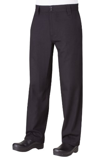 Chef Works Men's Essential Pro Chef Pants, Black, 38