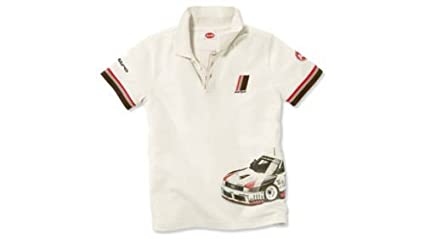 Audi Niños Heritage Polo/Polo Camiseta Blanco: Amazon.es: Coche y moto