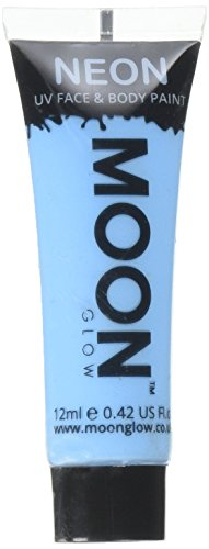 Moon Glow - 0.42oz Blacklight Neon UV Face & Body Paint - Pastel Blue -