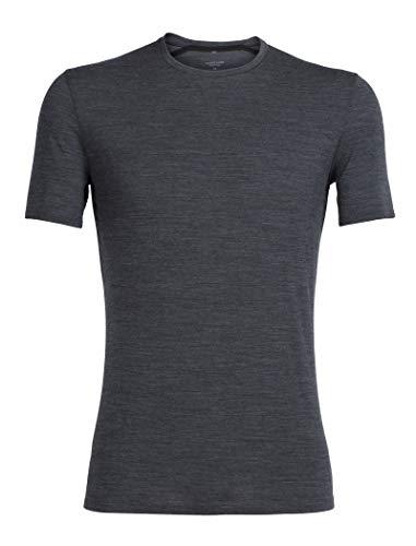 Icebreaker Merino Mens Anatomica Short Sleeve Crew Neck Shirt (Slim Fit Undershirt), Merino Wool