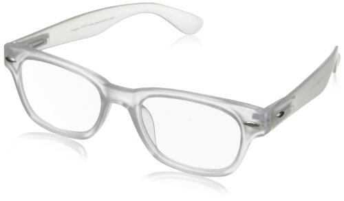 Peepers Wayfarer Rainbow Bright Retro Reading Glasses,Clear,1.25, Frosted, 45 mm