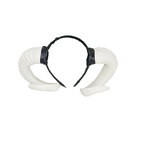 Gothic Sheep Horn Headband Forest Animal Photo Props Hair Accessory-White
