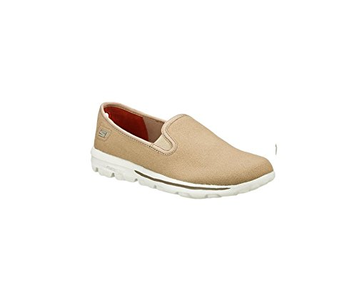 Skechers Womens Go Walk Icon 13751 Slip On Loafer Shoe, Taupe, US 9.5