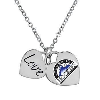 (Game Time Offical MLB COLORADO ROCKIES Heart Necklace)