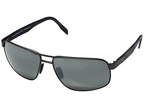(Maui Jim Sunglasses | Women's | Whitehaven 776-02S | Dark Gunmetal Rectangular Frame, Polarized Neutral Grey Lenses)