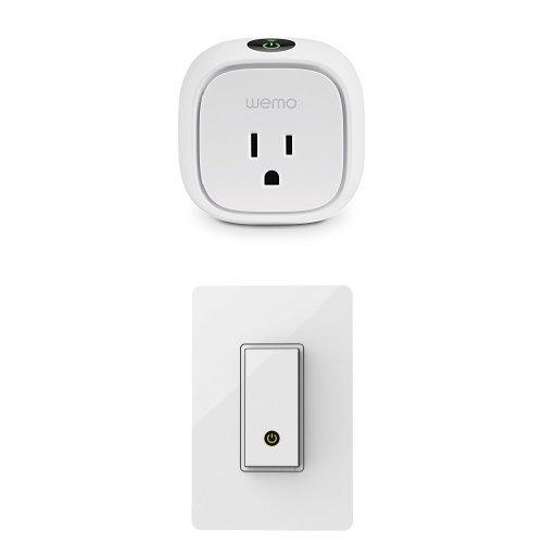 Wemo Insight Switch, Wi-Fi Smart Plug with WeMo Light Switch, Works with Amazon Alexa